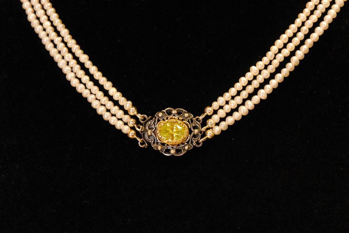 Kropfkette – Perlstränge